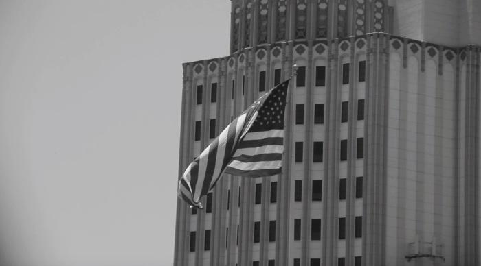 American flag east LA on July 4th
