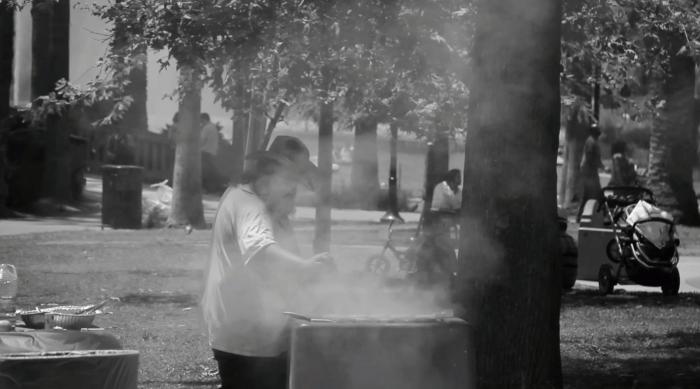 BBQ man on July 4th Echo Park Lake