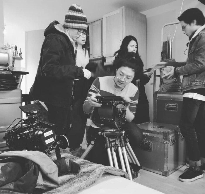 Film crew shooting 8k