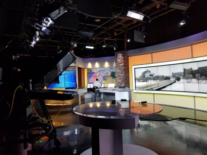 Shot of inside NBC Affiliate station WREX Channel 13 studios about 'Loves Park' Available on Amazon on Valentine's Day Release