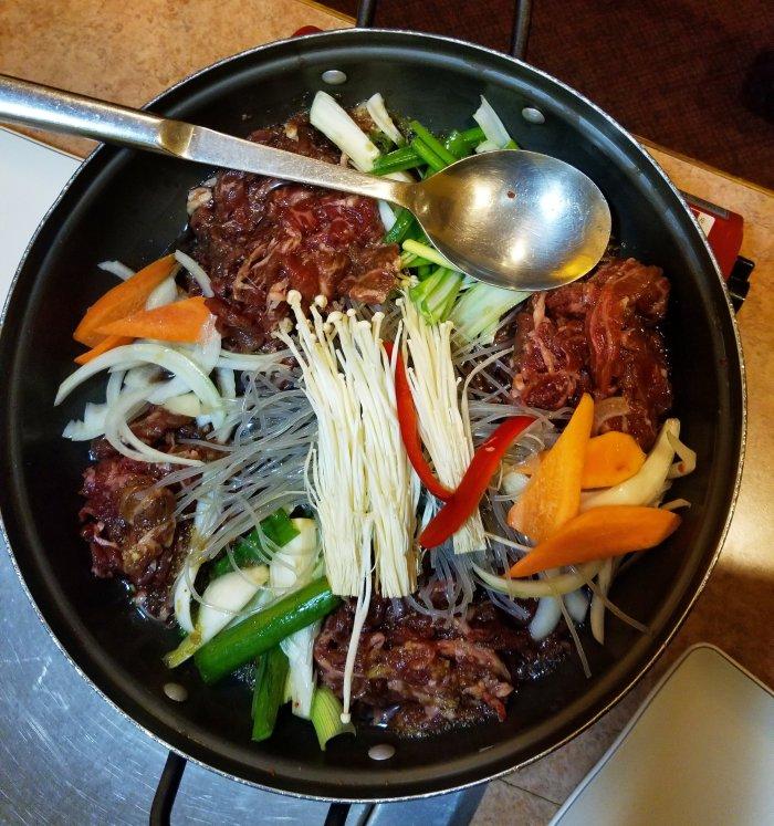 Bulgogi hot pot Ktown dinner delicious